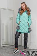 Зимняя Куртка женская    LS-8744-17, (Тиффани)