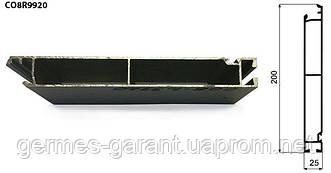 Бортовий алюмінієвий профіль - нижня планка 6 м