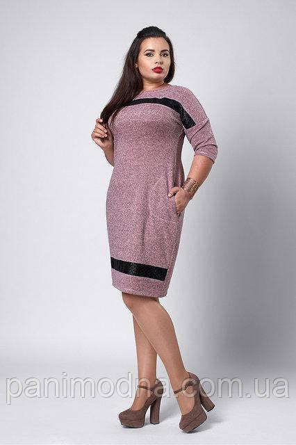 Осеннее платье с ангоры. Новинка - код 534