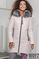 Зимняя Куртка женская    LS-8750-3, (Бежевый)