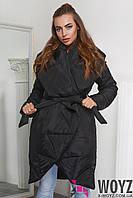 Зимняя Куртка женская    LS-8751-8, (Черный)