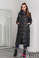 Зимняя Куртка женская    LS-8763-8, (Черный)