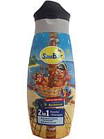 Шампунь + гель для душа SauBаr 2in1 Blaubeeren