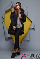 Зимняя Куртка женская    PL-8702, (Черный)