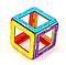 Детский магнитный конструктор Щенячий патруль на 52 детали. Развивающий магнитный конструктор для детей., фото 3