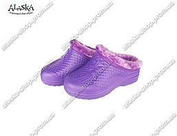 Женские галоши (Код: ГП-17 мех фиолет)
