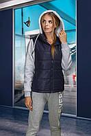 Женская спортивная куртка (трансформер) темно-синяя, фото 1