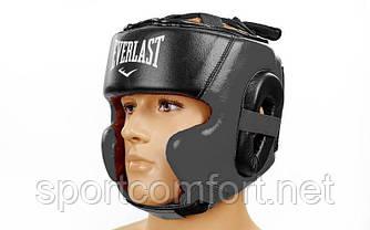Шолом боксерський в мексиканському стилі відкритий Elast Leather ( шкіра ) чорний
