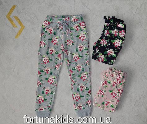 Трикотажные  спортивные брюки утепленные для девочек GLO-STORY 98-128  р.р.