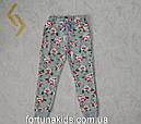 Трикотажные  спортивные брюки утепленные для девочек GLO-STORY 98-128  р.р., фото 2
