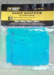 Набор шпателей пластиковых (4 шт) 50 мм 80 мм 100 мм 120 мм HTtools