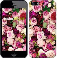 """Чехол на iPhone 5 Розы и пионы """"2875c-18-4848"""""""