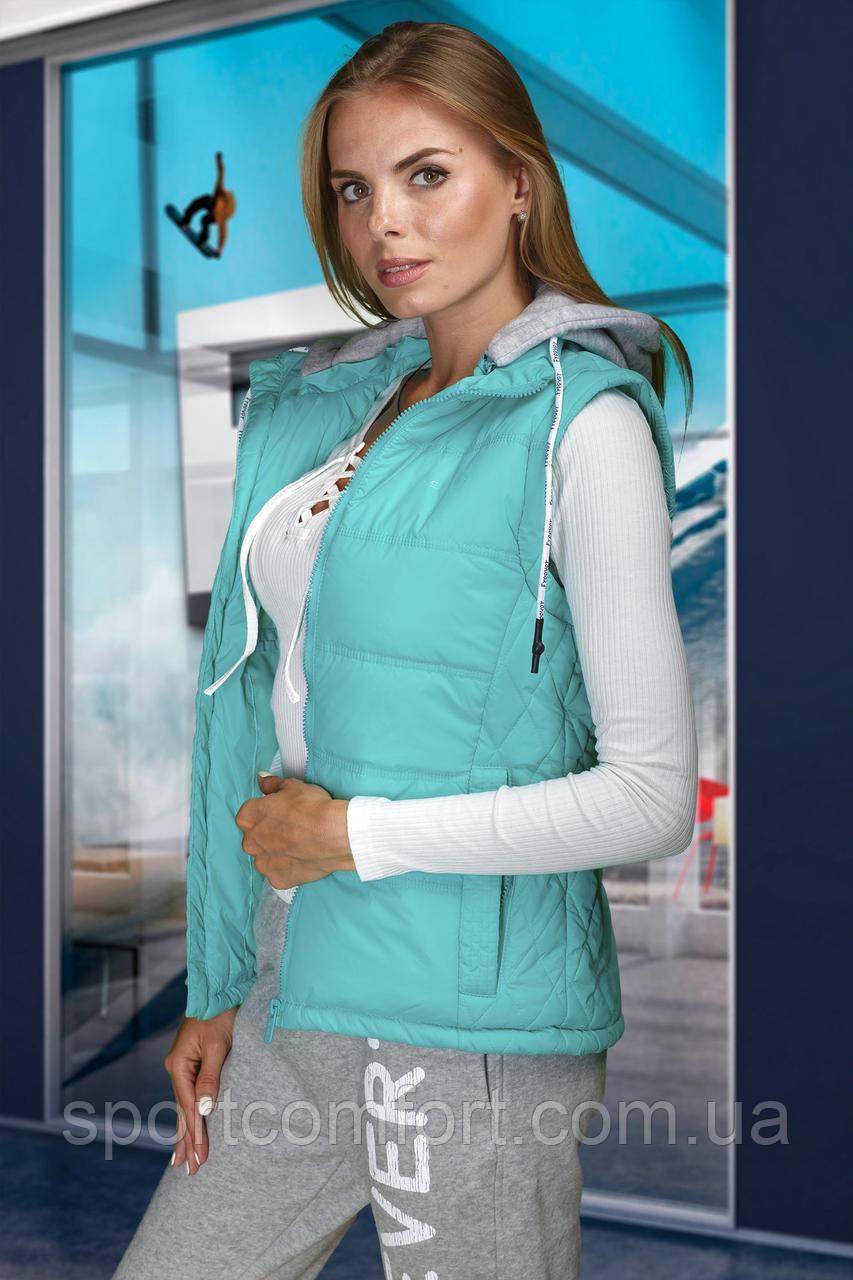 Женская спортивная куртка (трансформер) мята