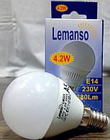 LED Лампа Lemanso 4,2W G45 E14 380LM 4500K мат.