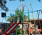 """Игровая площадка для детей  """"Король"""" с качелями и горкой, фото 7"""