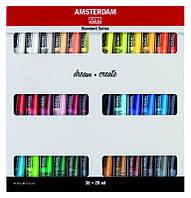 Набор акриловых матовых красок Royal Talens Amsterdam Standart 36 цветов по 20 мл