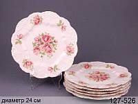 Набор тарелок Розы 6 предм. 127-526