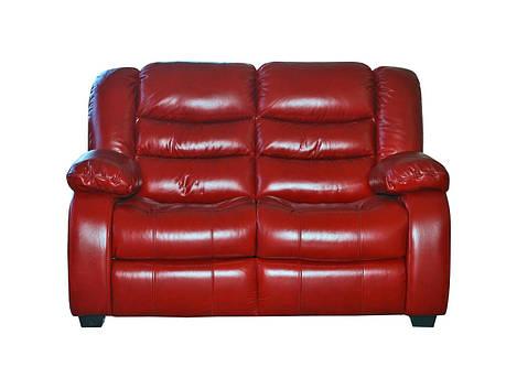 Кожаный двухместный реклайнер Манхэттен, диван реклайнер, мягкий диван, мебель из кожи, фото 2
