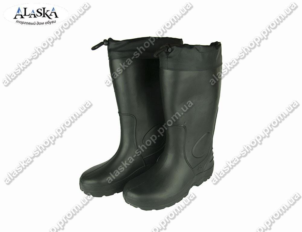 Сапоги мужские резиновые черные (Код: EVA-01)