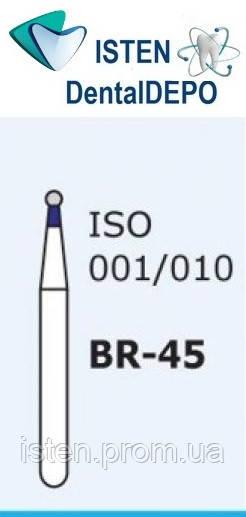 Боры BR-45, синий шарообразный, MANI (3 шт.)