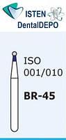 Боры BR-45, синий шарообразный, MANI (3 шт.), фото 1
