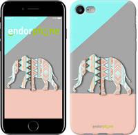 """Чехол на iPhone 7 Узорчатый слон """"2833c-336-4848"""""""