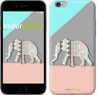 """Чехол на iPhone 6 Plus Узорчатый слон """"2833c-48-4848"""""""