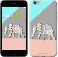 """Чехол на iPhone 6s Plus Узорчатый слон """"2833c-91-4848"""""""