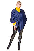 Накидка-пончо размер плюс Серена темно-синий (52-60)