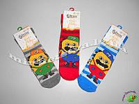 Махровые носки детские с тормозами для мальчиков TM BROSS р.3-5 (25-27 см)