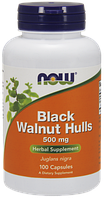 Now Foods, Черный орех, Black Walnut Hulls 500mg (100 caps)