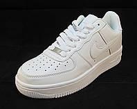 Кроссовки мужские Nike Air Force кожаные белые (аир форсы)  (р.43,44,45,46)