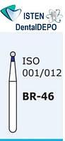 Боры BR-46, синий шарообразный, MANI (3 шт.), фото 1