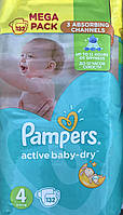 Pampers Active baby Mega pack 4 Памперс подгузники для детей