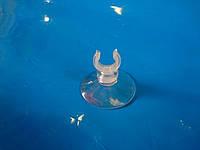 """Присоска силиконовая типа """"рогач""""с диаметром 1.4см, диаметр прилипающей поверхности 4см"""