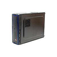 Корпус GTL M01-BU Black/Blue, 450W, 80mm, Micro ATX / Mini ITX, 2 x 3.5mm, USB2.0 x 2, 5.25' x 1, 3.5' x 2, 0.45mm, 3.15 kg