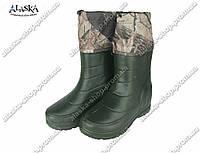 Мужские сапоги (Код: Б-19 зеленые)