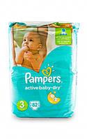 Подгузники Pampers Active Baby-Dry Midi 3 для детей 4-9 кг 82шт