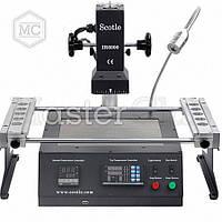 Паяльная станция инфракрасная SCOTLE IR6000 USB, программируемая ИК пушка с регулируемым штативом, держателем  плат, нижним подогревом