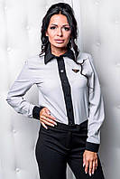 Офисная женская блуза на пуговицах в расцветках 51337