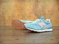 Женские кроссовки New Balance 996 голубые