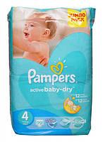 Подгузники Pampers Active Baby-Dry Maxi 4 для детей 7-14 кг 70шт