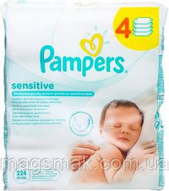 Влажные салфетки Pampers Sensitive детские 4*56шт