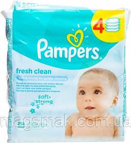 Влажные салфетки Pampers Fresh Clean детские 4*64шт