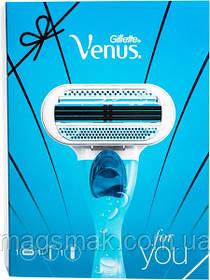 Набор Gillette Venus Бритва со сменной кассетой 1шт + Гель для бритья Satin Care для чувствительной кожи 75 мл