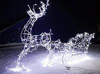 Фигура LED новогодний светящийся объемный 3D олень