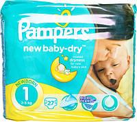 Подгузники Pampers New Baby-Dry Newborn 1 для детей 2-5 кг 27шт