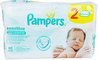 Влажные салфетки Pampers Sensitive детские 2*56шт