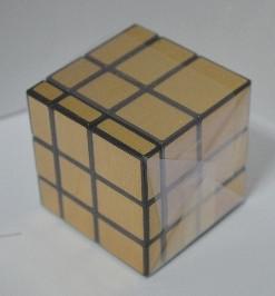 """Кубик Рубика, зеркальный, золото 6*6*6см.""""MIRROR MAGIC CUBE"""" №8084-1"""