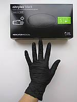Перчатки нитриловые неопудренные, черные Nitrylex  , S. 100 шт.